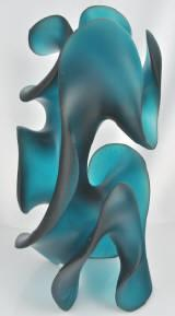 Classic Moves, finsihed Pollitt glass sculpture in Jade