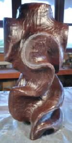 Image shows the barest outlines of the final design of Midnight Moves, Pollitt's in-progress glass sculpture