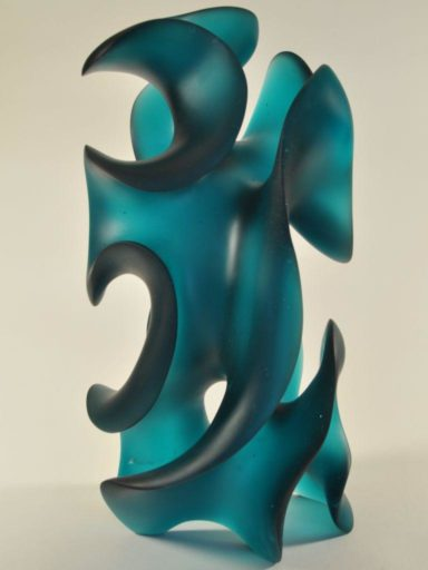Sensual glass sculpture by Harry Pollitt, Classic Moves undulates like a body set to romantic music.