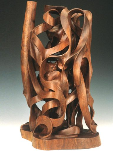 Gaia, mounumental wood sculpture by Harry Pollitt