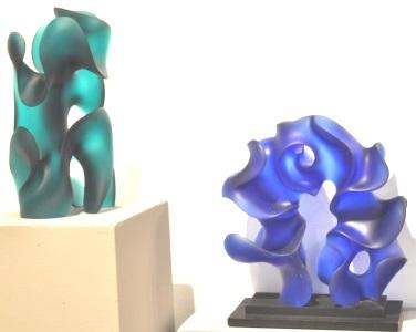 Harry Pollitt - Classic Moves and Event Horizon glass sculpture at SOFA