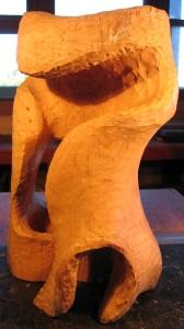 Morph XIV, sweeping, open, sculpture in the rough, revealing negative space and promise by Harry Pollitt