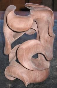 Morph III, by Harry Pollitt, sweeps and curves and final sanding complete