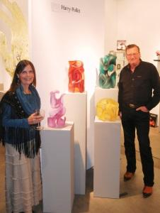 Gaye & I at the Riley Galleries exhibit with my work
