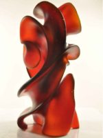 Dark orange red, Midnight Moves, glass sculpture by Harry Pollitt