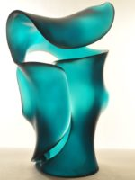Harry Pollitt - Jade Green Ode to Morph glass sculpture