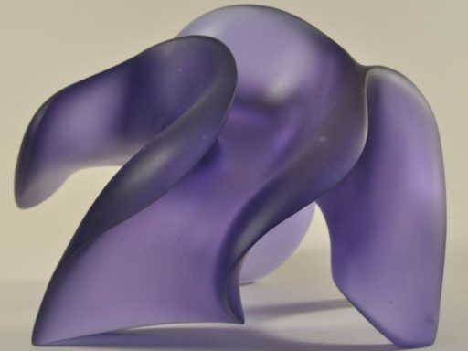 Light-changing glass sculpture, Shape Shifter, by Harry Pollitt