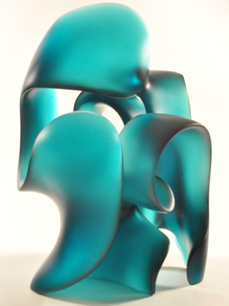 Harry Pollitt - jade green Splash glass sculpture