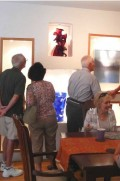 Glass art collectors group visits Pollitt Studio