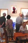 Glass art collectors group visits Pollitt Studio