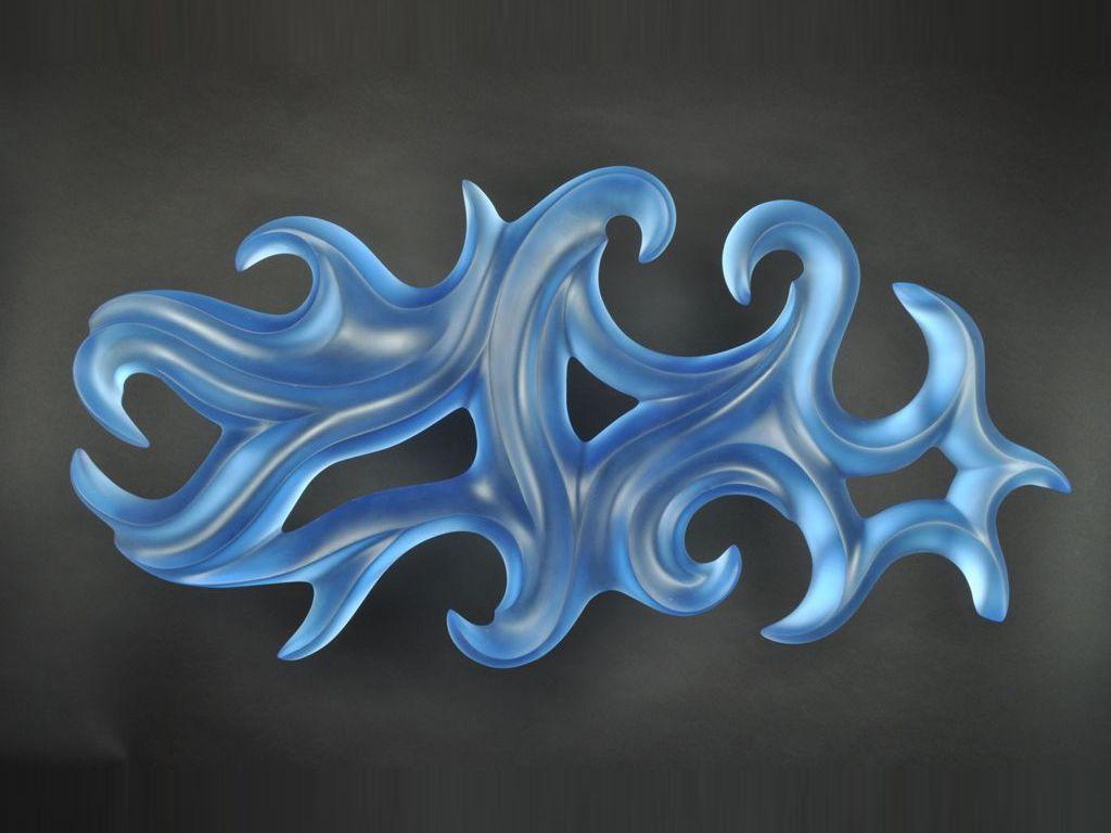 Harry Pollitt - cobalt blue Coriolis glass sculpture