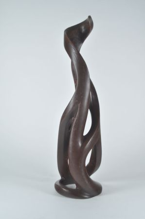 Harry Pollitt - creating Zest glass sculpture wax-wood completed