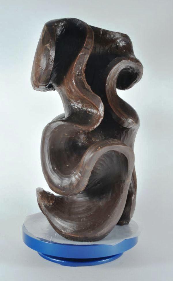 Harry Pollitt - creating Capricious glass sculpture in wax 1