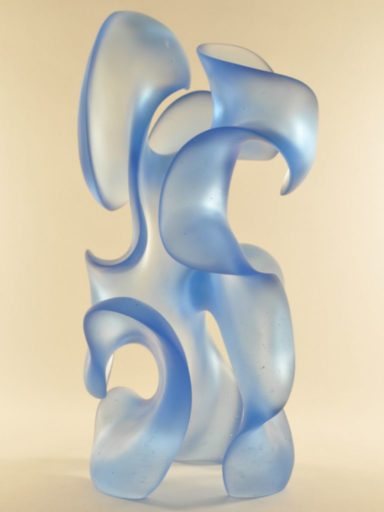 Harry Pollitt - light blue Capricious glass sculpture