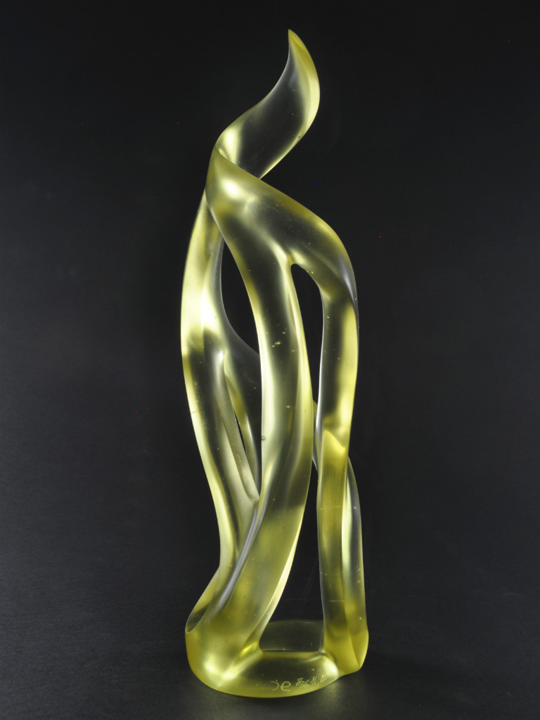 Harry Pollitt - Zest glass sculpture